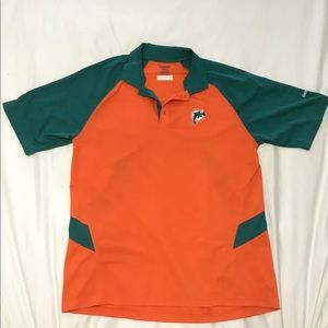 Used Miami Dolphins collared dry fit shirt
